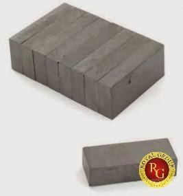 Nam châm Ferrite 20x10x5mm hình khối